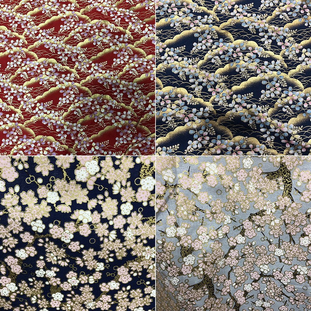 Japanese-Cotton-Fabric-Cherry-Blossom-Sewing-Fabric-Patchworks-Quilting-DIY