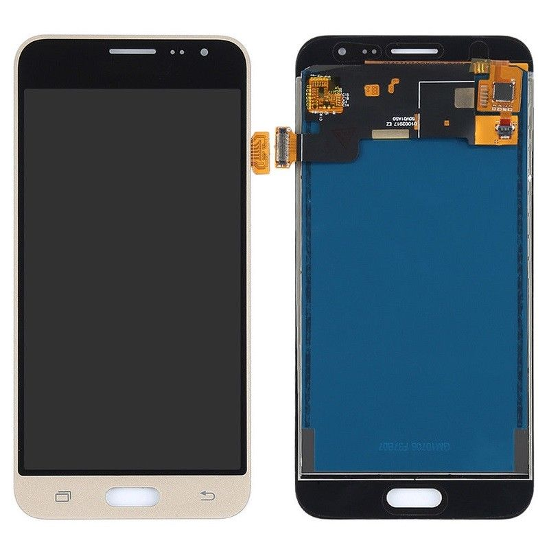 f r samsung galaxy j3 2016 sm j320f touch screen display lcd gold neu ebay. Black Bedroom Furniture Sets. Home Design Ideas