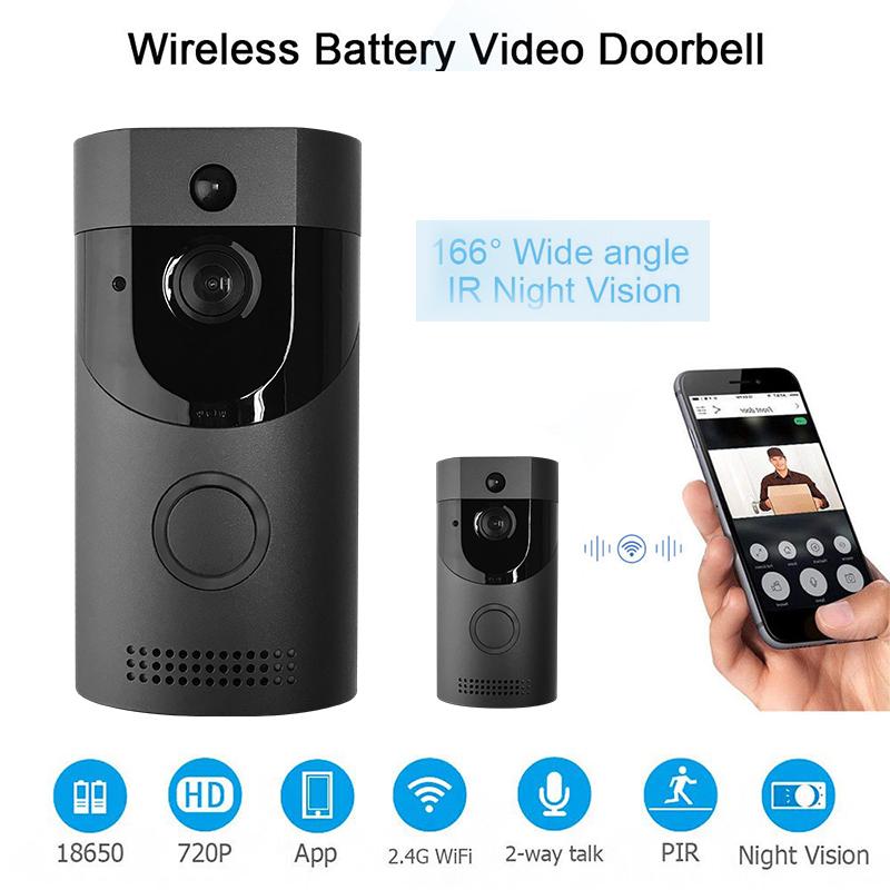 video doorbell videoklingel wlan t rklingel kamera 720p hd. Black Bedroom Furniture Sets. Home Design Ideas