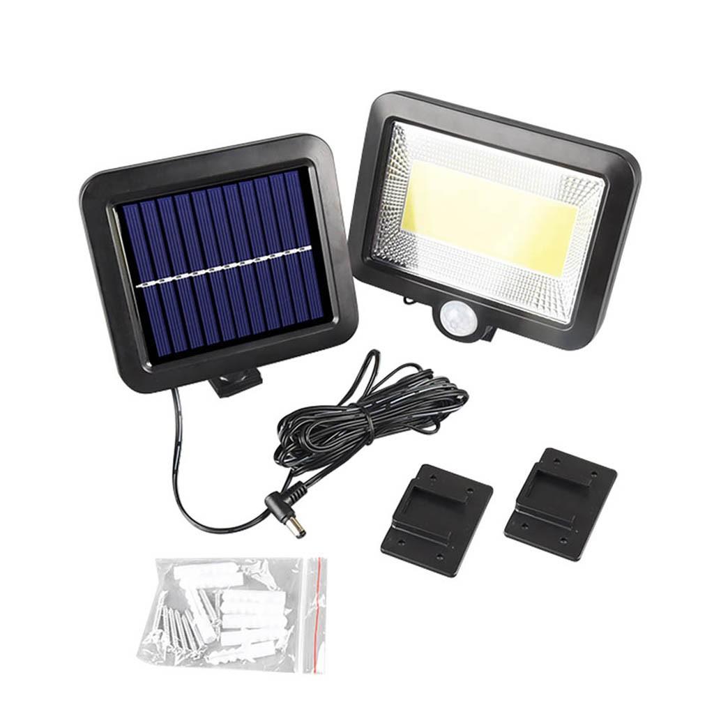 100LED Solarleuchte Bewegungsmelder Solarstrahler Außenleuchte Gartenlampe DE