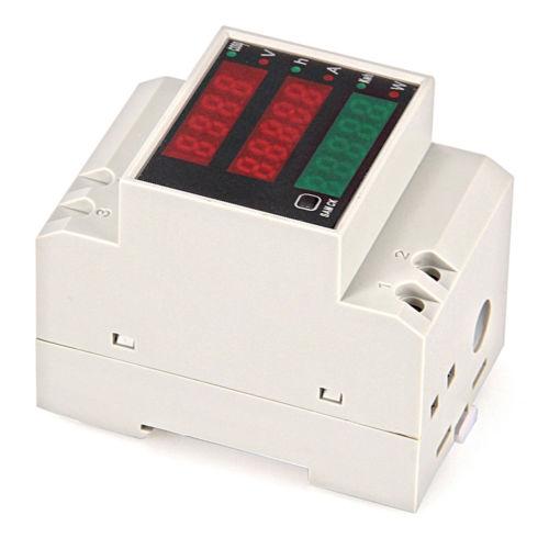 6in1 Digital Watt Spannung Strom Meter Voltmeter Amperemeter Messgerät 80V-300V