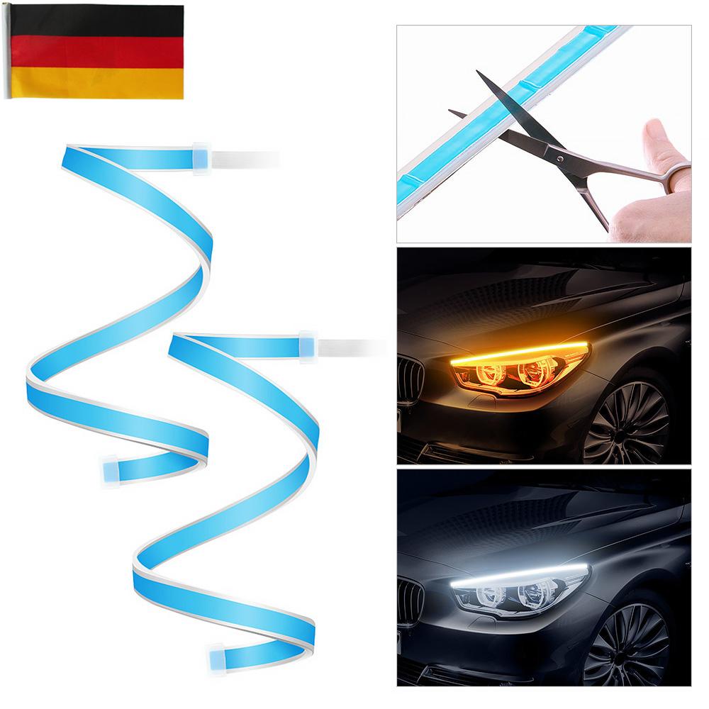2 Stk 60cm LED Blinker Streifen DRL Scheinwerfer Tagfahrlicht Lampe Universal DE