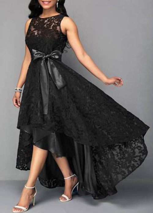 Plus-Size-Women-Evening-Party-Lace-Sleeveless-Long-Dress-Cocktail-Ball-Prom-Gown