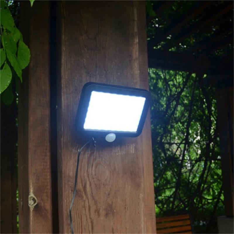 100LED-Solarleuchte-mit-Bewegungsmelder-Solarstrahler-Aussenleuchte-Gartenlampe Indexbild 18