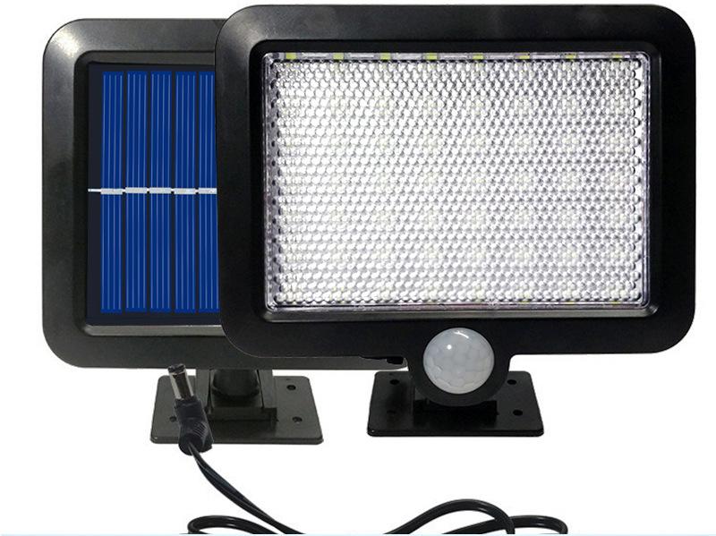 100LED-Solarleuchte-mit-Bewegungsmelder-Solarstrahler-Aussenleuchte-Gartenlampe Indexbild 19