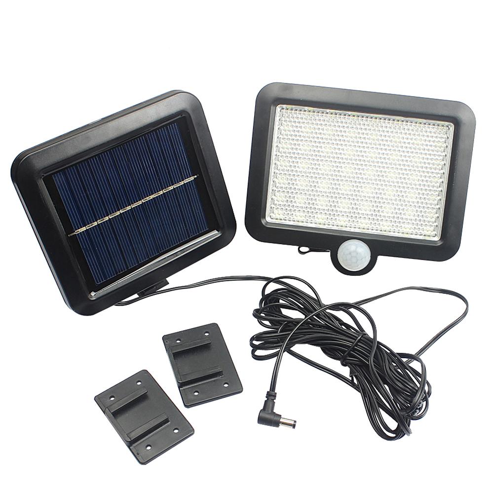 100LED-Solarleuchte-mit-Bewegungsmelder-Solarstrahler-Aussenleuchte-Gartenlampe Indexbild 22