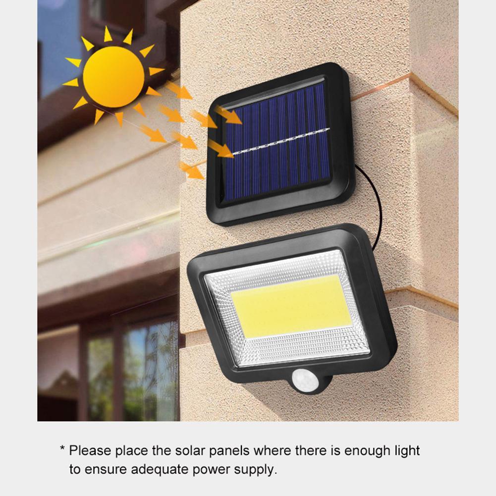 100LED-Solarleuchte-mit-Bewegungsmelder-Solarstrahler-Aussenleuchte-Gartenlampe Indexbild 25