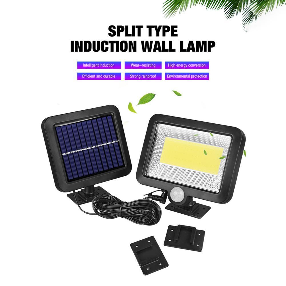 100LED-Solarleuchte-mit-Bewegungsmelder-Solarstrahler-Aussenleuchte-Gartenlampe Indexbild 27