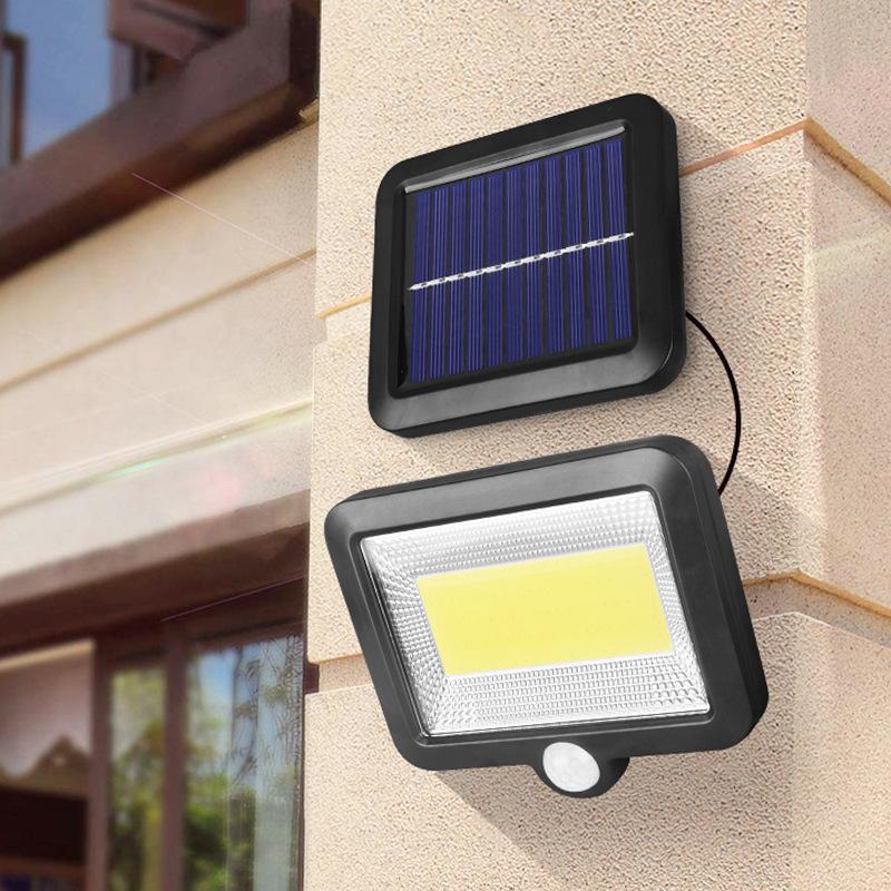 100LED-Solarleuchte-mit-Bewegungsmelder-Solarstrahler-Aussenleuchte-Gartenlampe Indexbild 29