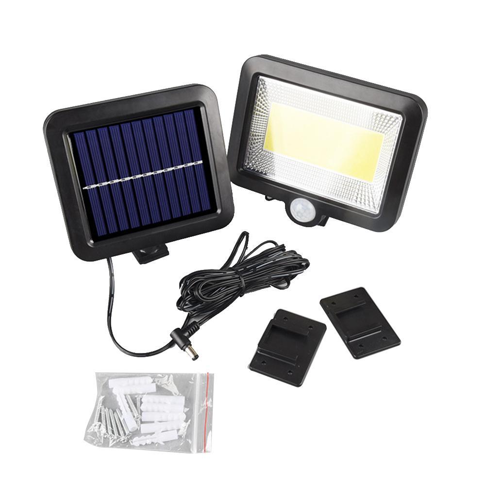 100LED-Solarleuchte-mit-Bewegungsmelder-Solarstrahler-Aussenleuchte-Gartenlampe Indexbild 31