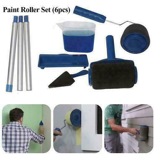 6 outils Pro Paint Roller Brush rouleau de peinture avec réservoir kit peinture 2