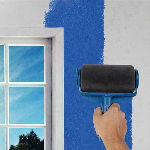 6 outils Pro Paint Roller Brush rouleau de peinture avec réservoir kit peinture 5