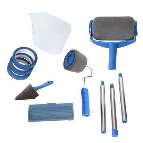 6 outils Pro Paint Roller Brush rouleau de peinture avec réservoir kit peinture 7