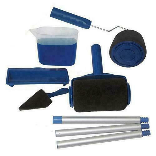 6 outils Pro Paint Roller Brush rouleau de peinture avec réservoir kit peinture 9