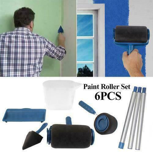 6 outils Pro Paint Roller Brush rouleau de peinture avec réservoir kit peinture 10