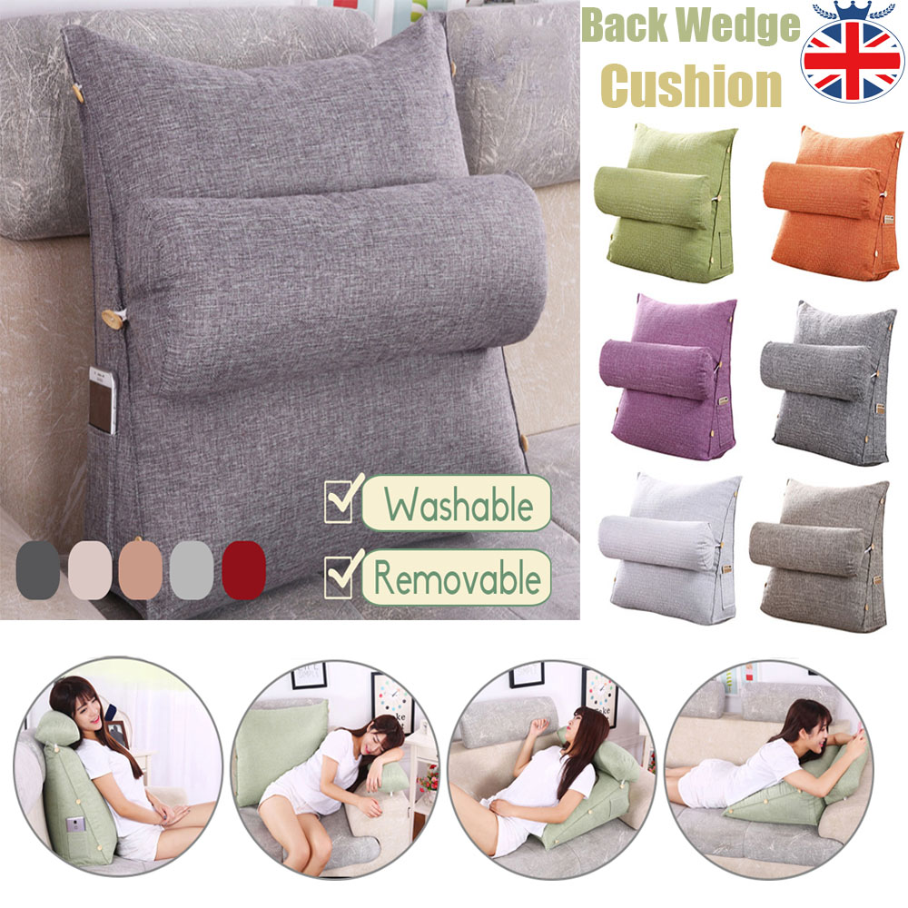 Sofa Bed Wedge Adjustable Back Cushion Pillow Office Chair Rest Neck Support UK