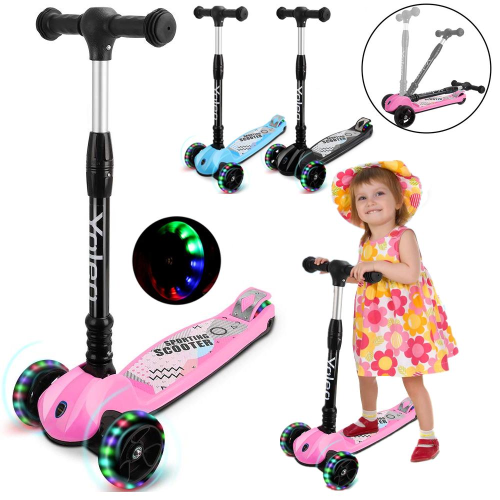 led kinder scooter kinderroller cityroller tretroller. Black Bedroom Furniture Sets. Home Design Ideas