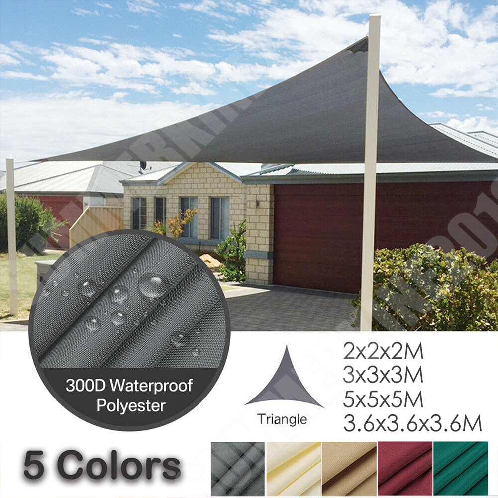 Sun Shade Sail Garden Patio Sunscreen Awning Canopy Shade 98/%UV Block  *#