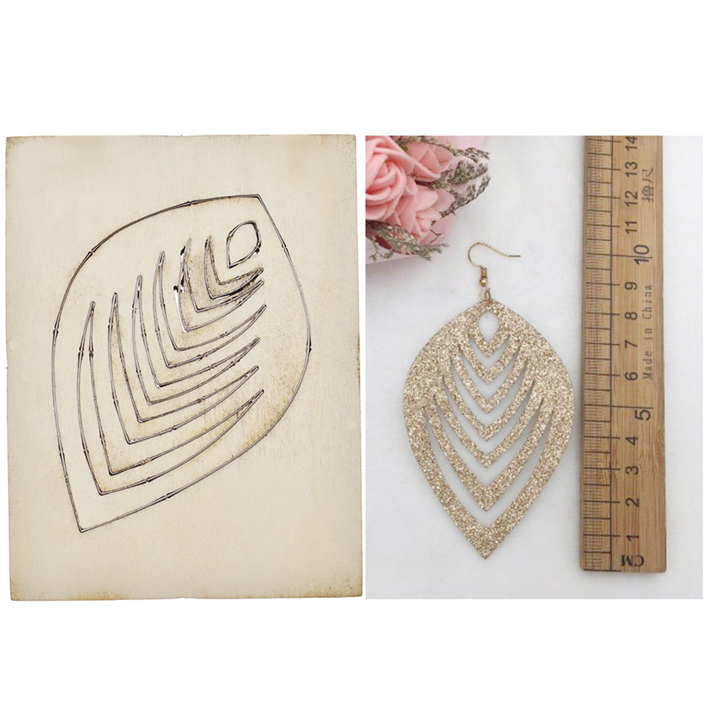 Wooden Leather Cutting Dies Punch Blade Cutter Jewelry Making Mold Tool Mould