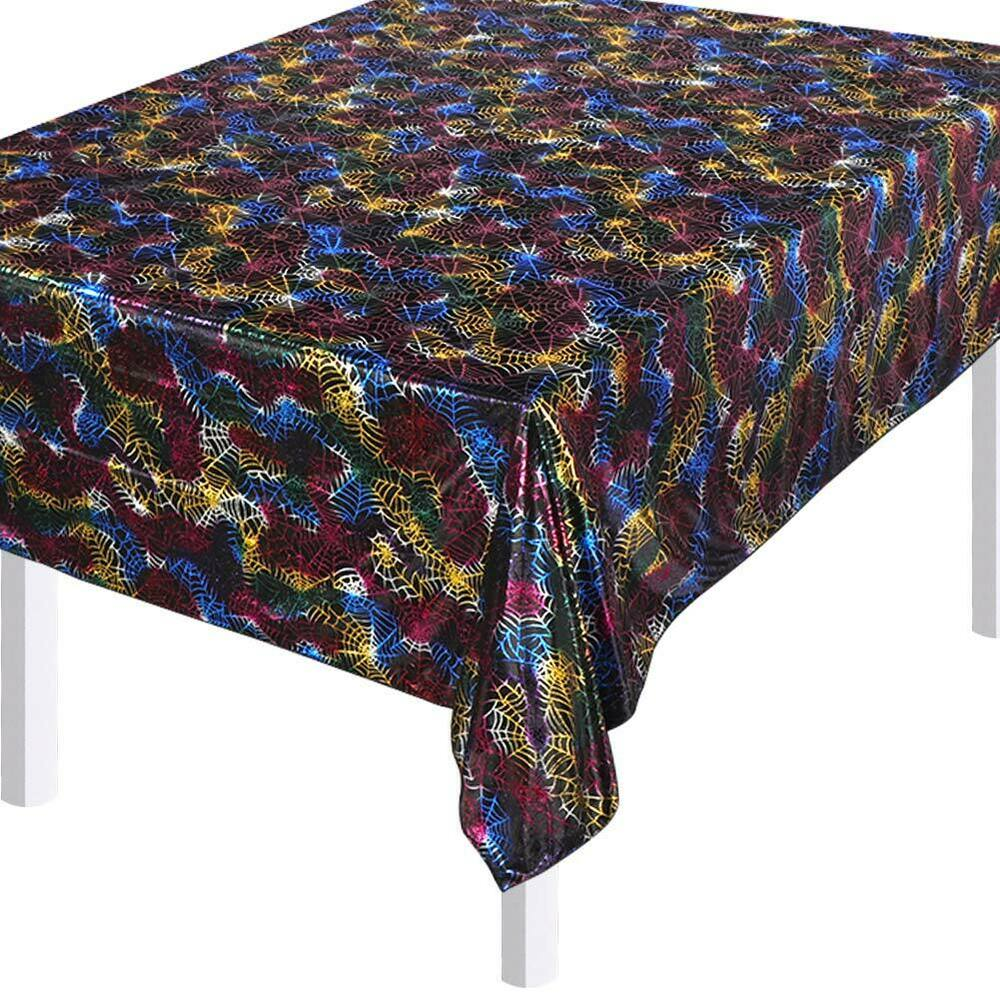 Halloween-Spider-Web-Tablecloth-Polyester-Party-Table-Cloth-Cover-Home-Bar-Decor thumbnail 2