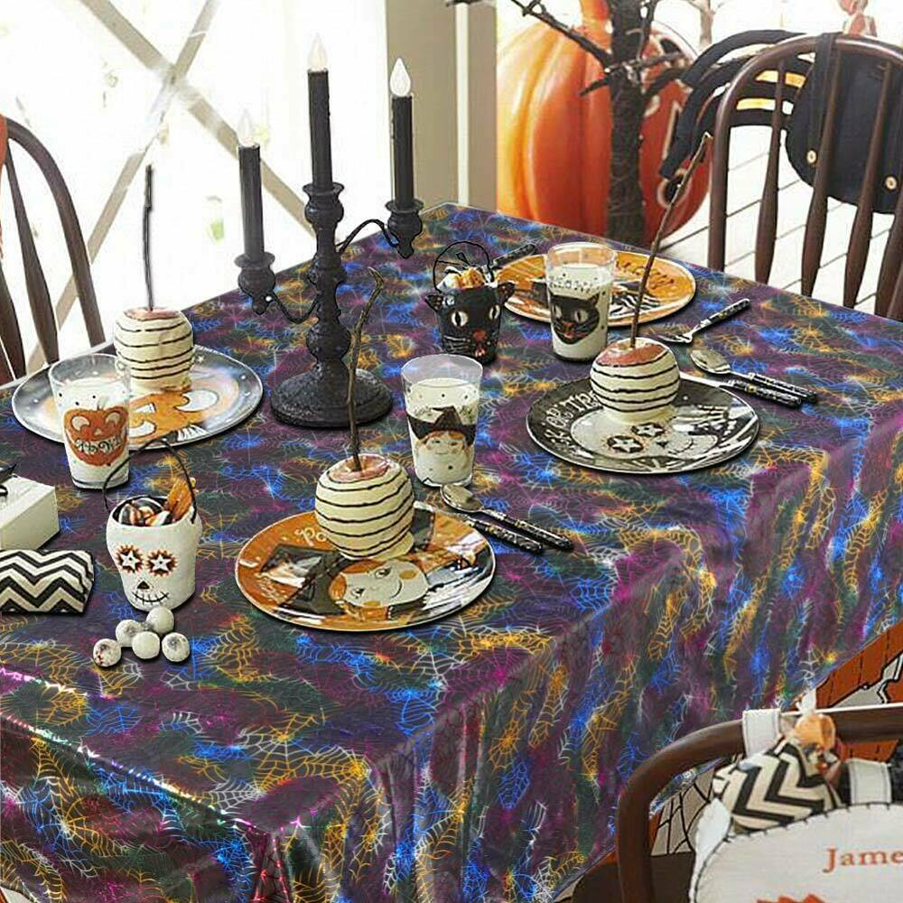 Halloween-Spider-Web-Tablecloth-Polyester-Party-Table-Cloth-Cover-Home-Bar-Decor thumbnail 4