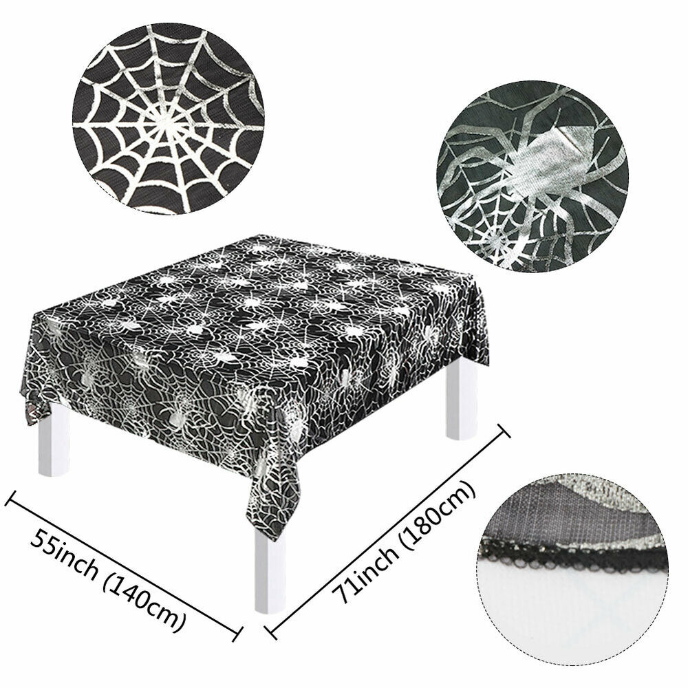 Halloween-Spider-Web-Tablecloth-Polyester-Party-Table-Cloth-Cover-Home-Bar-Decor thumbnail 5