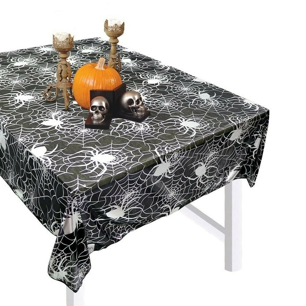 Halloween-Spider-Web-Tablecloth-Polyester-Party-Table-Cloth-Cover-Home-Bar-Decor thumbnail 7