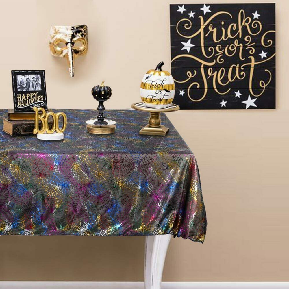 Halloween-Spider-Web-Tablecloth-Polyester-Party-Table-Cloth-Cover-Home-Bar-Decor thumbnail 11