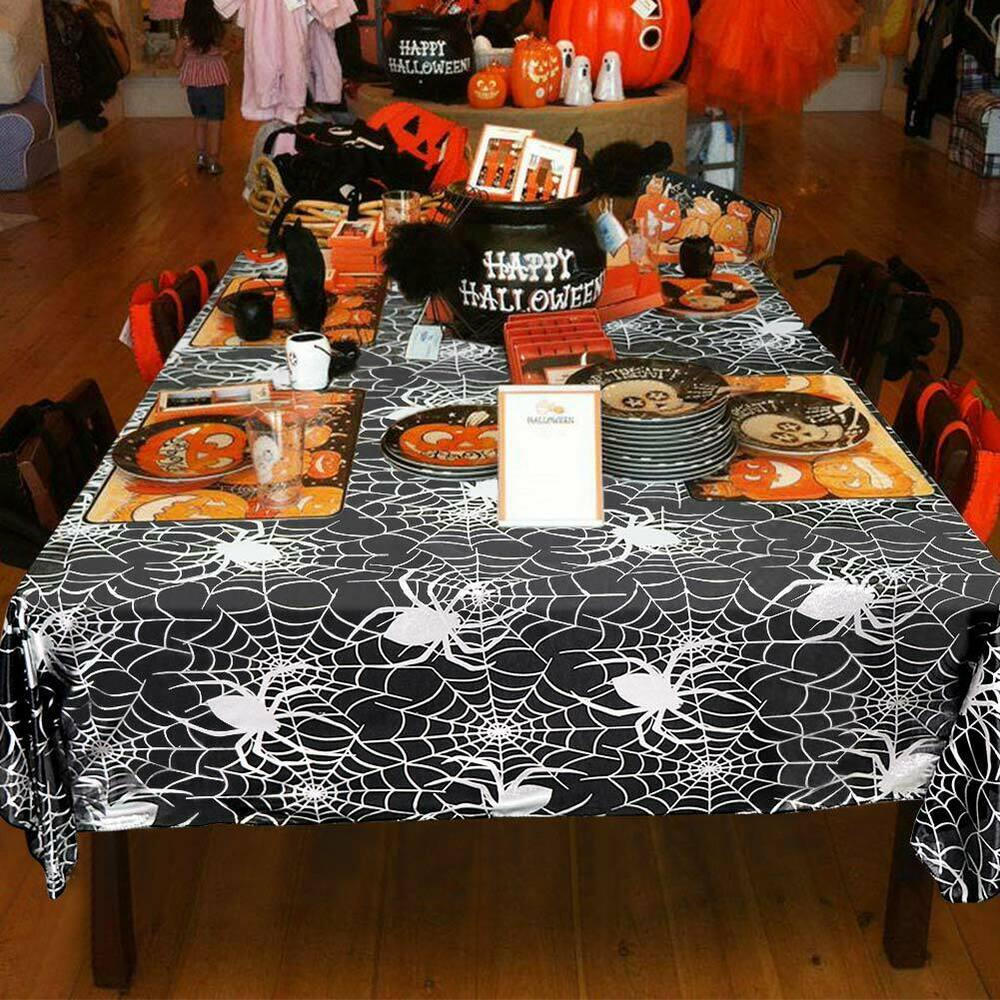 Halloween-Spider-Web-Tablecloth-Polyester-Party-Table-Cloth-Cover-Home-Bar-Decor