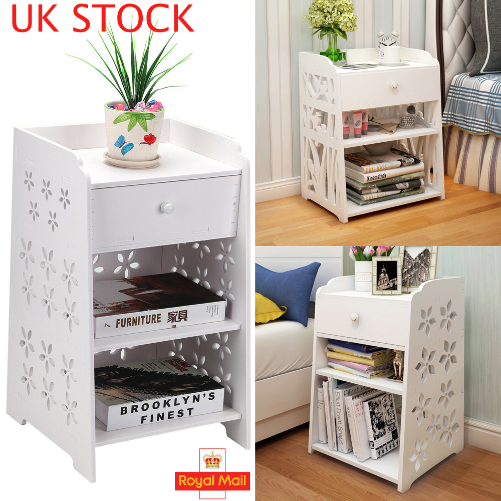 US Movable Bathroom Toilet Side Cabinets Drawers Storage drawer Table Waterproof