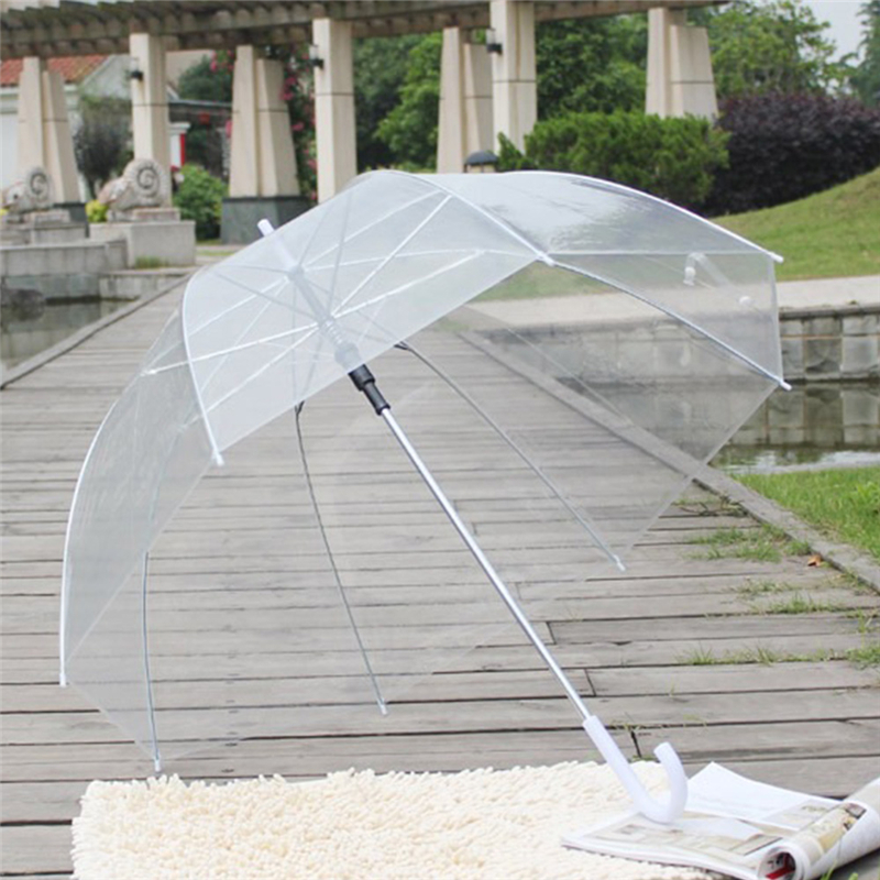 Dome Umbrella Transparent Clear See Through Plastic PVC Wedding Brolly Decor