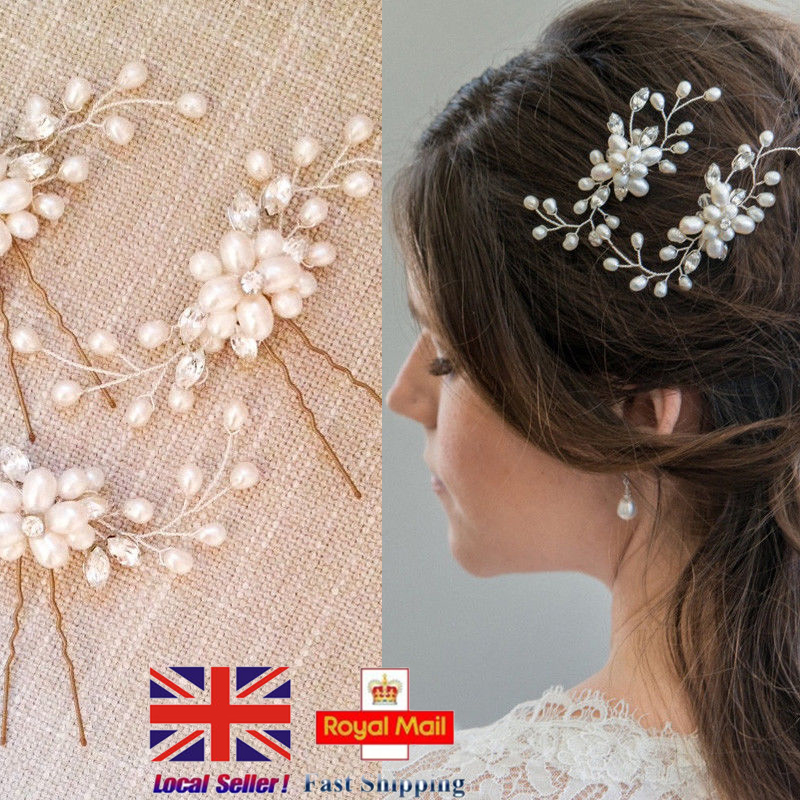 929db29cc8c You may also like. 1X Crystal Diamante Rhinestone Flower Pearl Hair Pins  Slide Clip Grips Bridal UK