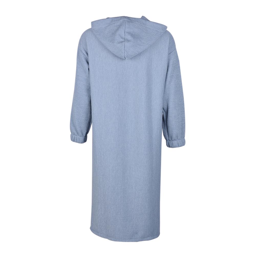 UK Womens Long Sleeve Knitwear Open Cardigans Coat Hooded Hoodie Knitted Sweater