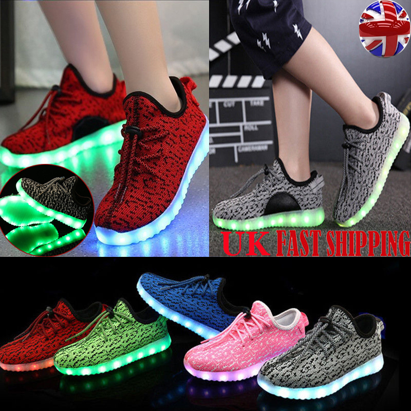 Details about Flashing Kids Girl Boy LED Light Up Shoes Trainers USB  Charger Luminous Sneakers c2dff3158