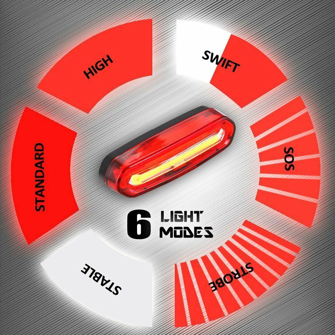 Fahrrad Rücklicht Scheinwerfer 120 Lumen COB LED Mit USB Aufladbare 650mah Akku