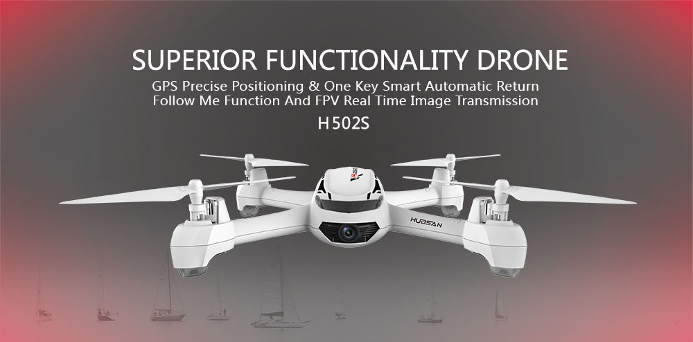 drohne quadrocopter hubsan x4 h502s fpv monitor hd kamera. Black Bedroom Furniture Sets. Home Design Ideas