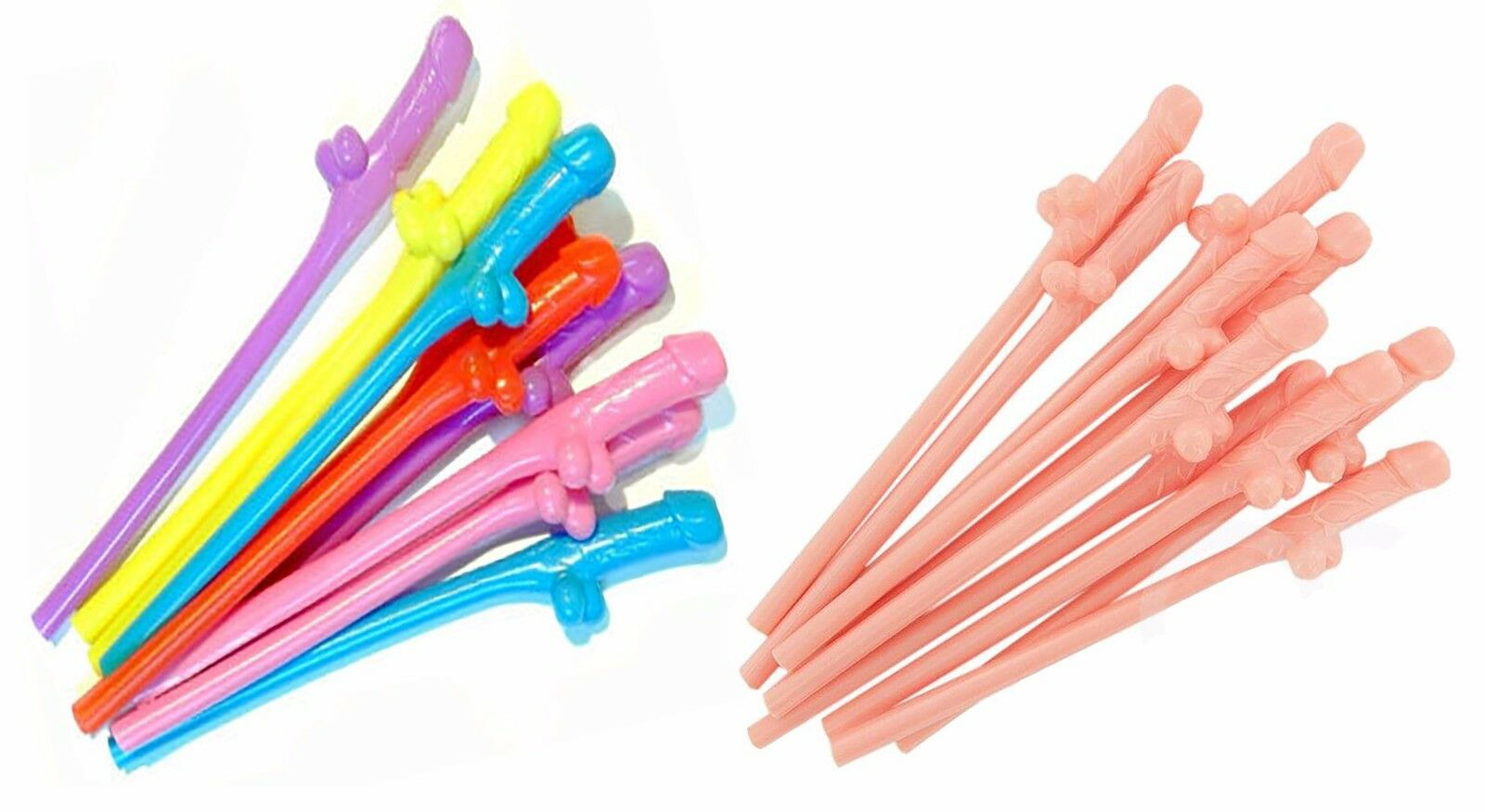 10 in a Pack Hen Night Sipping Willy Straws