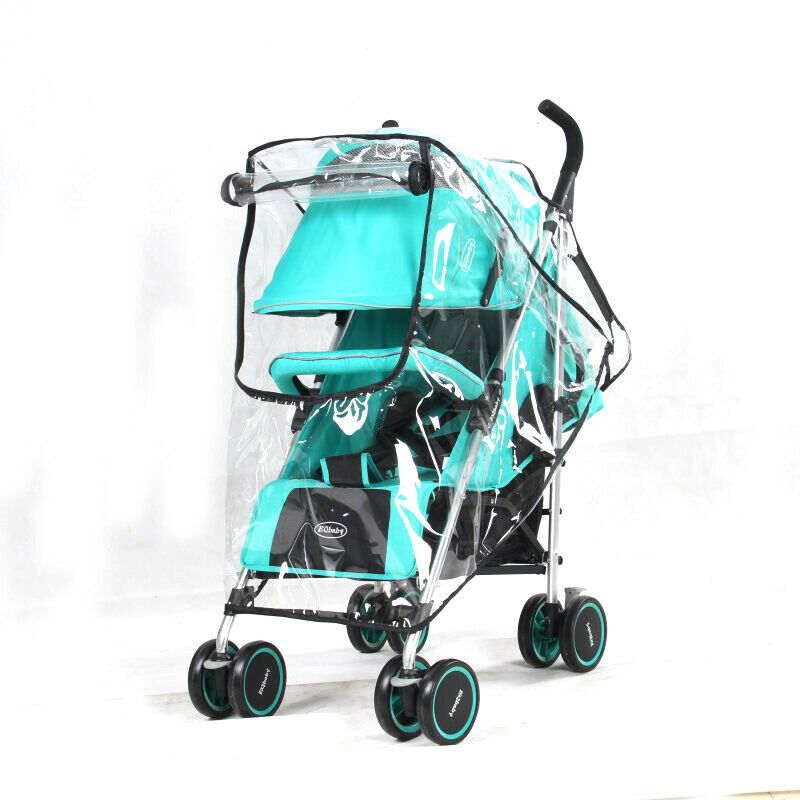 Large Universal Buggy Pushchair Stroller Pram Transparent Rain Cover Baby 2 Size