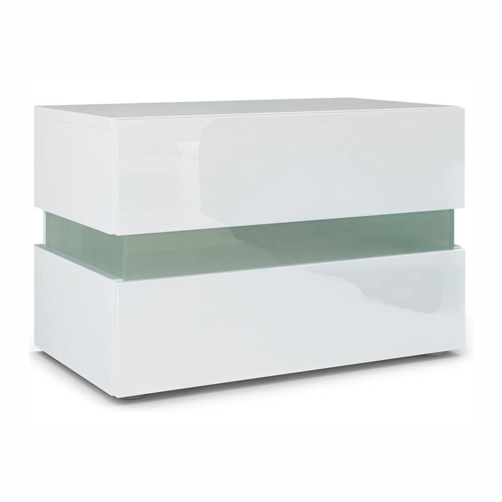 thumbnail 11 - Modern 2 Doors Sideboard Kitchen Buffet High Gloss Matt Body LED Storage Cabinet