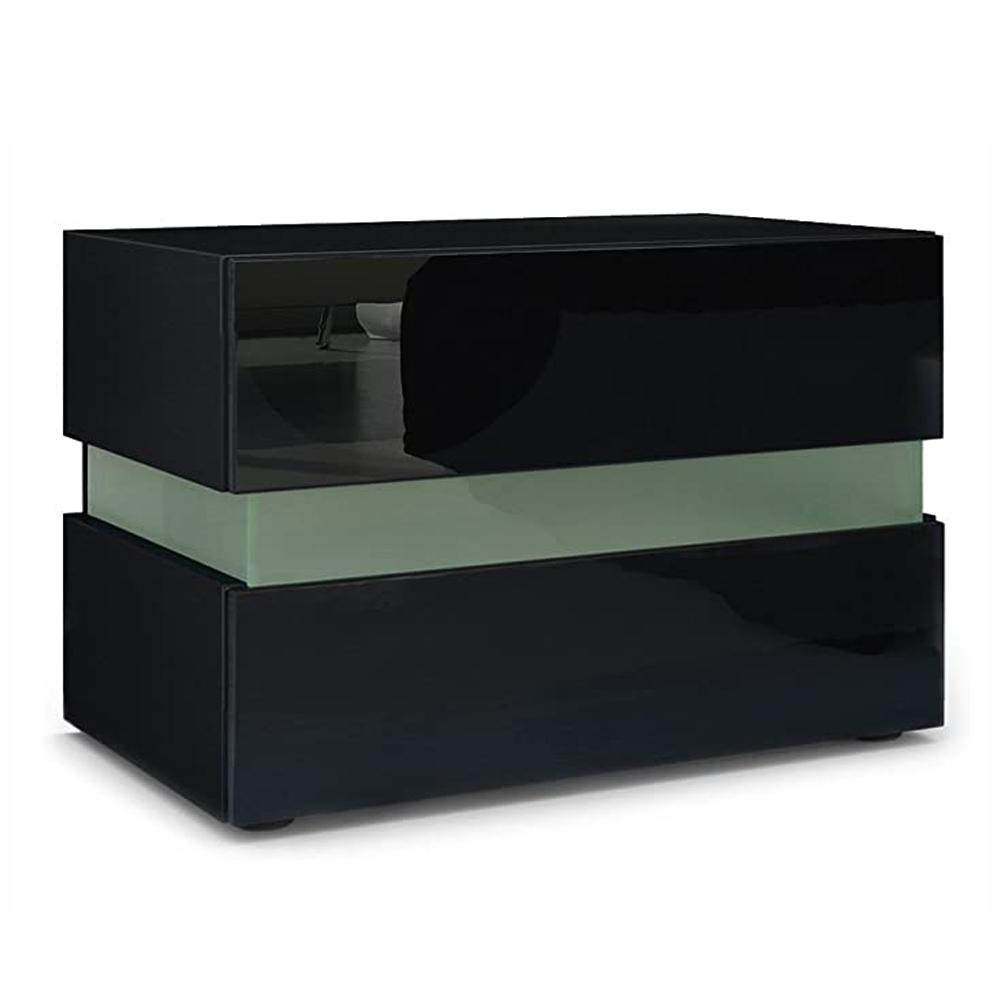 thumbnail 15 - Modern 2 Doors Sideboard Kitchen Buffet High Gloss Matt Body LED Storage Cabinet
