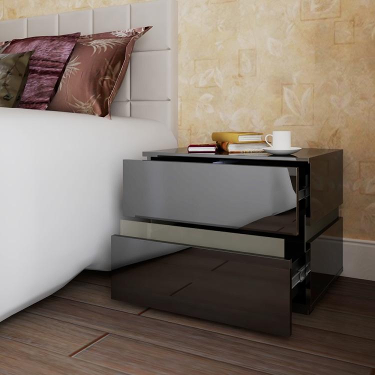 thumbnail 16 - Modern 2 Doors Sideboard Kitchen Buffet High Gloss Matt Body LED Storage Cabinet