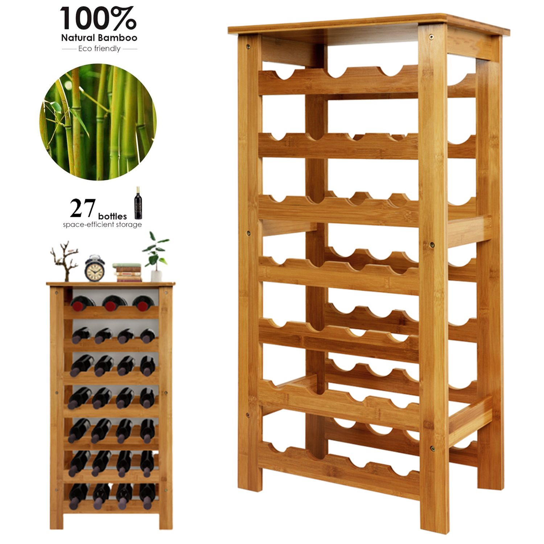 Weinregal Aus Holz Fur 27 Flaschen Weinstander Wein Flaschen Regal Weinschrank Ebay