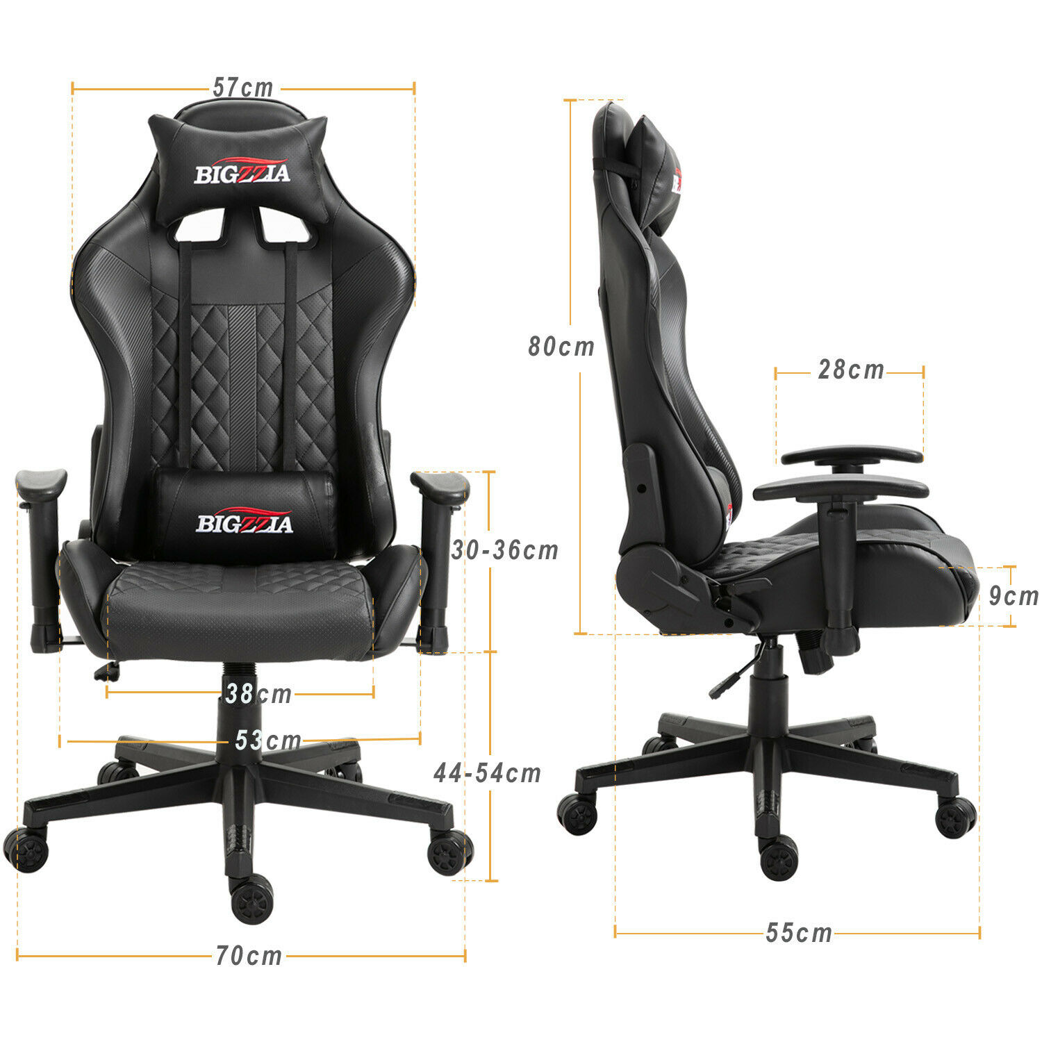 OFFICE CHAIR - Sports Gaming Swivel Recliner Computer Home ...