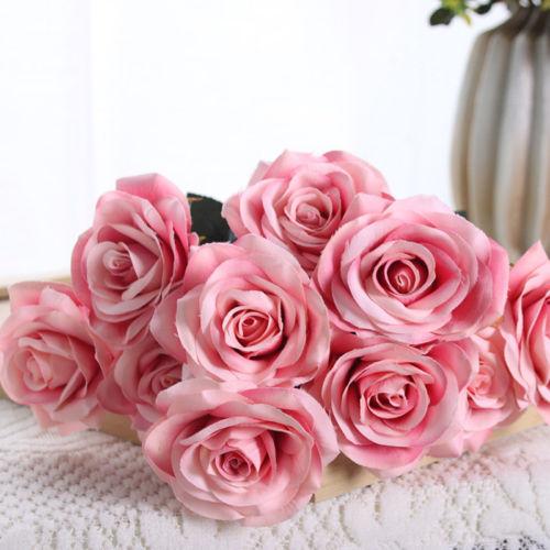 Seidenblumen Hart Arbeitend Rosenblüten Rosenköpfe Foamrosen Dekorosen Schaumrosen