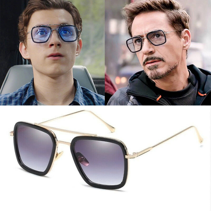 Details zu Marvel Tony Stark Sonnenbrille Avengers Iron Man Brille Spiderman EDITH Glasses