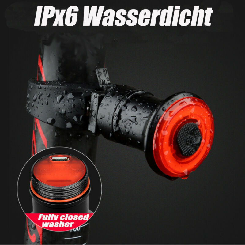 Bremsinduktion-Fahrrad-Ruecklicht-COB-LED-Blinker-USB-Wiederaufladbar Indexbild 15