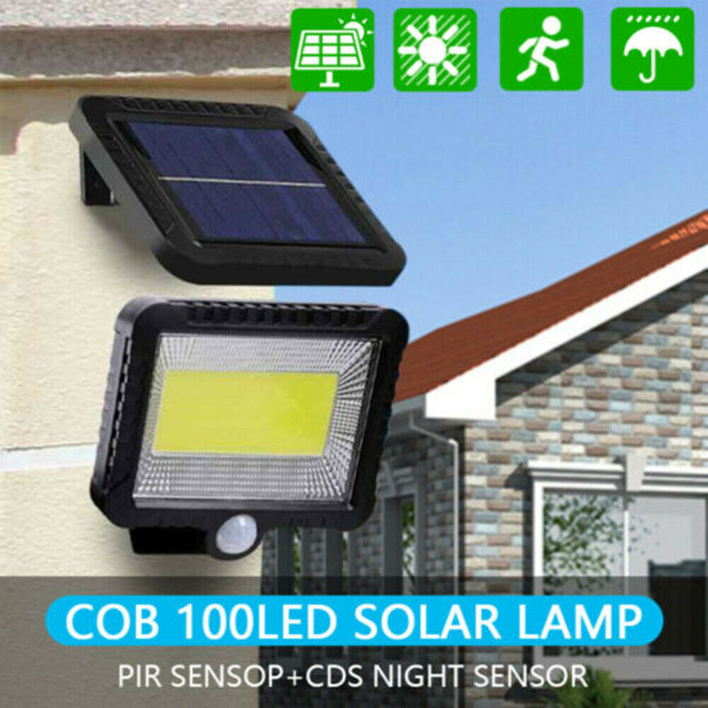 4X LED Solarleuchte Strahler Außen Wand Gartenlampe mit Bewegungsmelder 2X