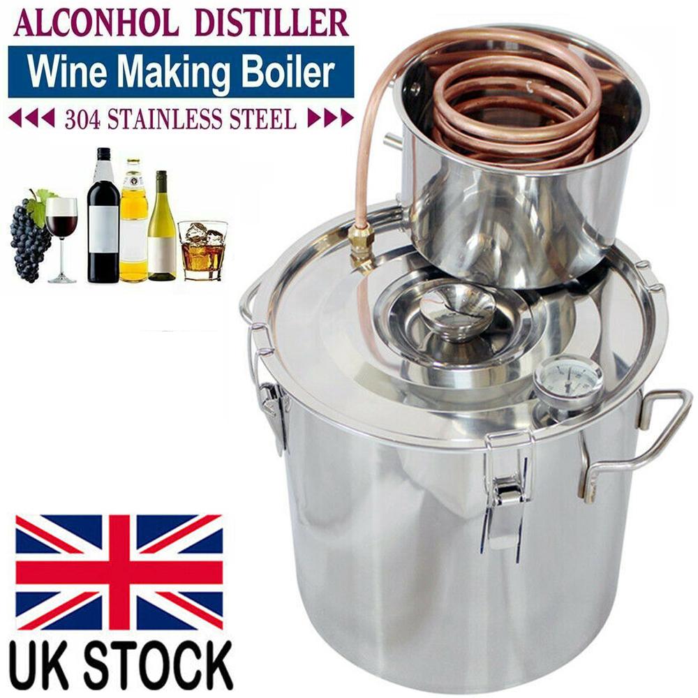 Moonshine Still Spirits Kit 5 Gal 20 Litres Alcohol Moonshine Ethanol Still Spirits Stainless Steel Boiler Water Home Distiller Wine Making Kit