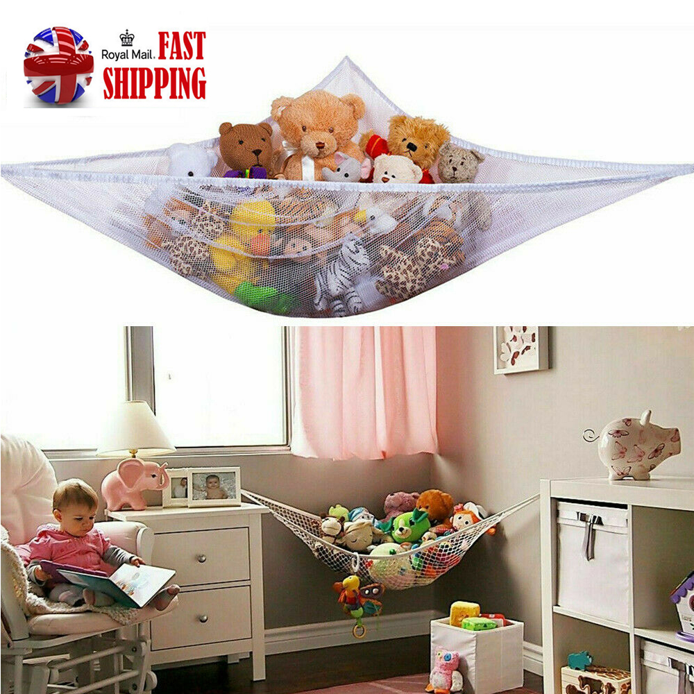 UK Large Toy Soft Teddy Hammock Mesh Baby Kids Bedroom Tidy Storage Nursery Net