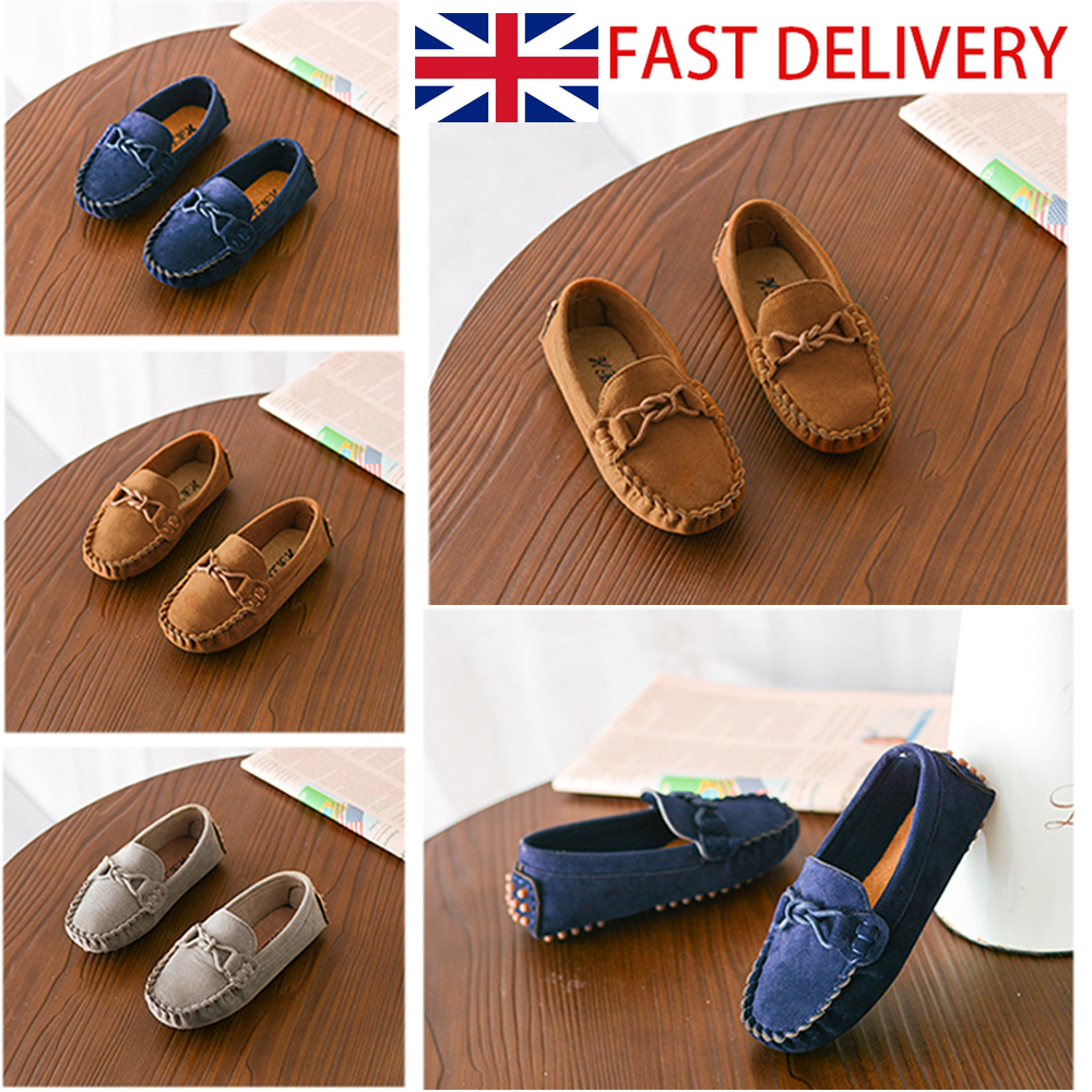Hot Kids Girls Slip  Flat Loafers Moccasins Toddler Casual Boat Shoes Pumps Size